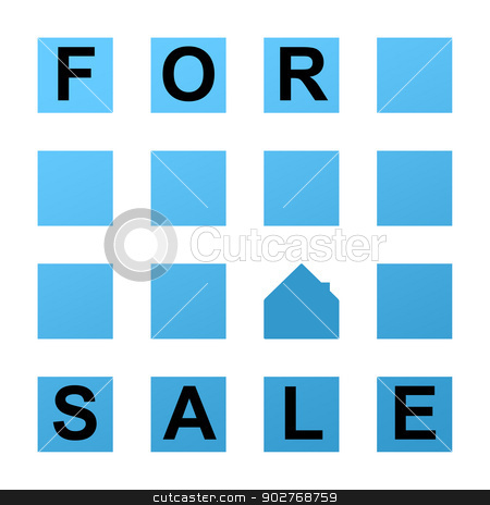 Abstract for sale sign stock photo, Abstract for sale sign isolated on white background. by Martin Crowdy