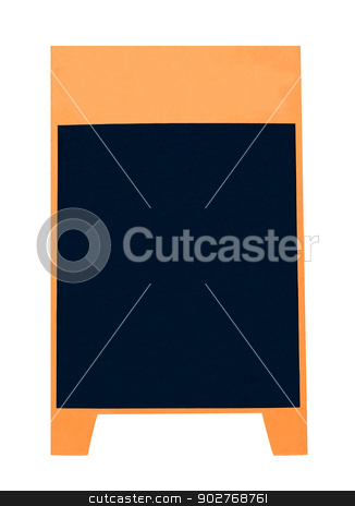 Blank advertising board stock photo, Blank advertising board isolated on white background. by Martin Crowdy