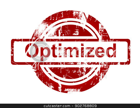 SEO optimized red stamp stock photo, SEO optimized red stamp isolated on white background. by Martin Crowdy