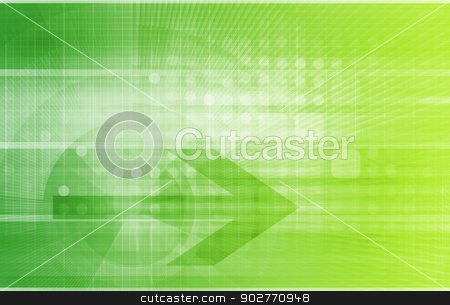 Technology Network stock photo, Technology Network with Circuit Board Data Flow by Kheng Ho Toh
