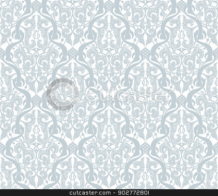 Vintage  Middle Eastern Arabic Pattern stock vector clipart, Illustration of an intricate seamlessly tilable repeating vintage Middle Eastern Arabic motif pattern by Christos Georghiou