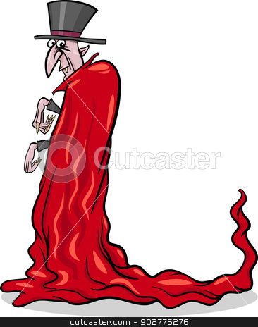 halloween vampire cartoon illustration stock vector clipart, Cartoon Illustration of Spooky Halloween Vampire or Count Dracula by Igor Zakowski