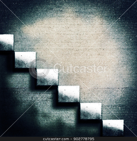 Abstract concrete stairs. Grunge architecture backgrounds stock photo, Abstract concrete stairs. Grunge architecture backgrounds by tolokonov