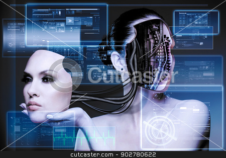 CyberFashion. Abstract techno backgrounds stock photo, CyberFashion. Abstract techno backgrounds by tolokonov