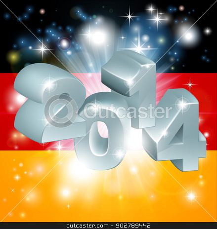 2014 German flag stock vector clipart, Flag of Germany 2014 background. New Year or similar concept by Christos Georghiou