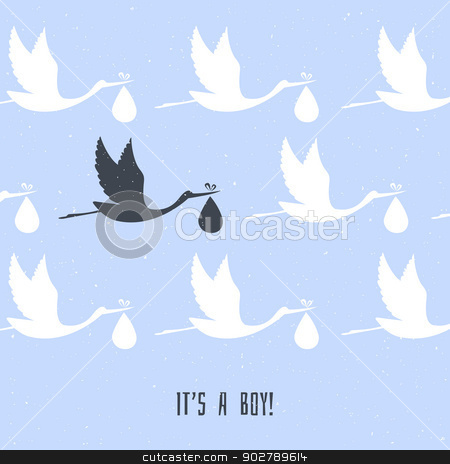 It's a boy! stock vector clipart, Vector illustration of It's a boy! by SonneOn
