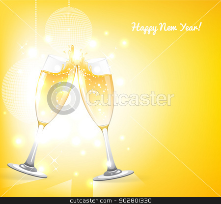 Glasses of champagne stock vector clipart, Vector illustration of Glasses of champagne by SonneOn
