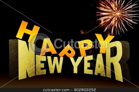 Happy New Year Wallpaper stock photo, Happy New Year Wallpaper by Mohamad Razi Bin Husin