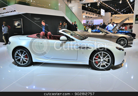 FRANKFURT - SEPT 14: Aston Martin V8 Vantage Roadster presented