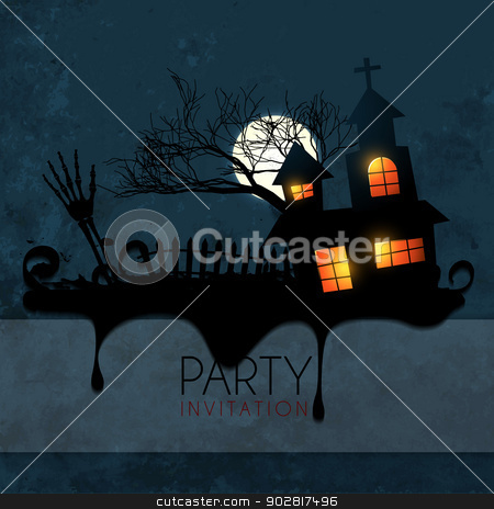 halloween background design stock vector clipart, stylish vector halloween design background by pinnacleanimates