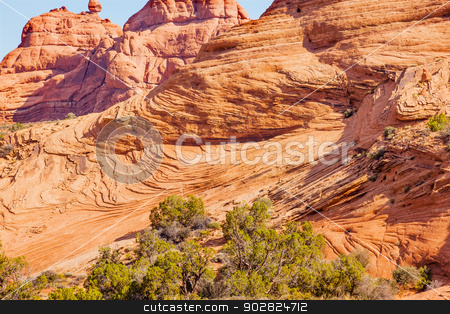 Sandstone Rock Layers Garden of Eden Arches National Park Moab U stock photo, Classic Rock Sandstone Layers Garden of Eden Arches National Park Moab Utah USA Southwest.  by William Perry