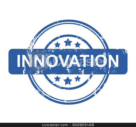 Business innovation stamp stock photo, Business innovation stamp with stars isolated on a white background. by Martin Crowdy
