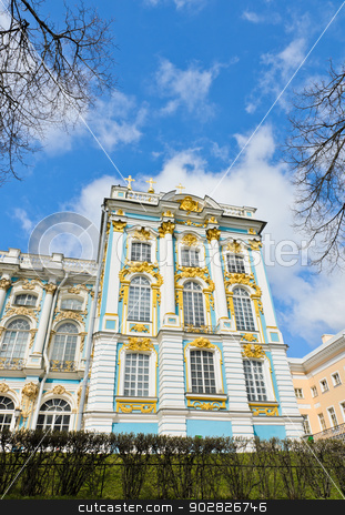 Catherine Palace, Russia  stock photo, Part of Catherine Palace at Tsarskoye Selo (Pushkin), Russia  by boonsom