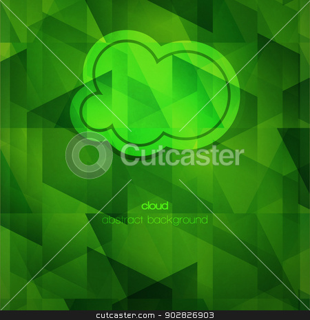 green cloud stock vector clipart, new abstract cloud icon on green textured wallpaper can use like modern background   by metrue
