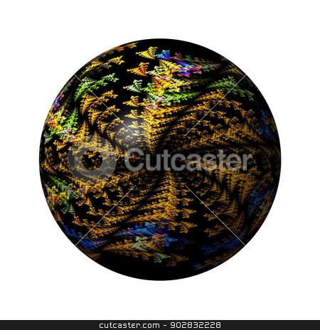 Abstract Globe stock photo, Multi color globe on white background. by Henrik Lehnerer