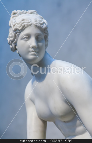 Venus stock photo, Sensual pose for this neoclassical copy of Venus by Perseomedusa