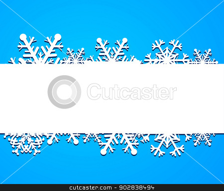 Background from snowflakes stock vector clipart, Background from snowflakes. Vector illustration. by sermax55