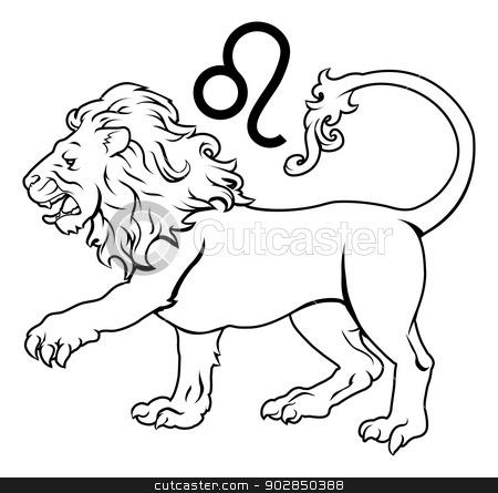 Leo zodiac horoscope astrology sign stock vector clipart, Illustration of Leo the lion zodiac horoscope astrology sign by Christos Georghiou