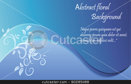abstract floral background stock vector clipart, Vector illustration of abstract floral background by Kalinina Nataliia