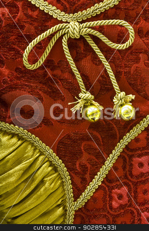 Red and Gold Christmas Material Background stock photo, Red and Gold Christmas Material Texture for Wallpaper or Background by jetcityimage