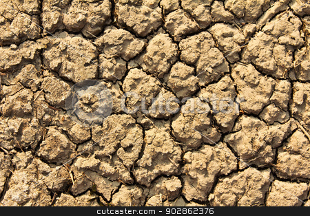 Cracked by the heat long lifeless soil stock photo, Cracked by the heat long lifeless soil by doraclub