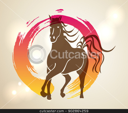 Chinese New Year 2014 Clip Art Multicolor chinese new year of