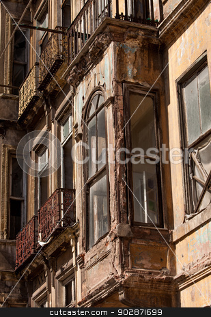 Apartment Window in Instanbul stock photo, Window on an Instanbul apartment building by Scott Griessel