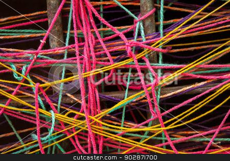 Colorful Turkish Yarn  stock photo, Detail of colorful Turkish yarn  by Scott Griessel