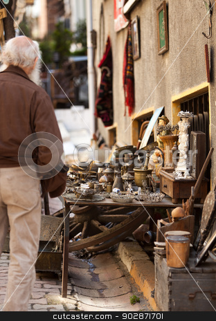 Istanbul Side Street Items stock photo, Items for Sale on an Instanbul Side Street by Scott Griessel