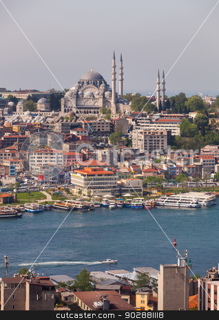 Hagia Sophia stock photo, ISTANBUL, TURKEY – APRIL 28: Hagia Sophia on April 28, 2012 in Istanbul, Turkey prior to Anzac Day.  Hagia Sophia served as both a Greek basilica and an imperial mosque.   by Scott Griessel