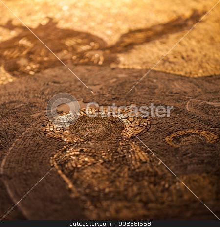Detail of Jesus stock photo, Detail of Chora Church Jesus Mosaic by Scott Griessel