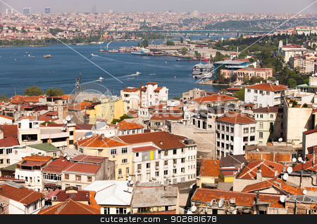 The Bosphorus Strait stock photo, View of the Bosphorus in Istanbul by Scott Griessel