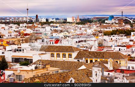 Basilica de la Macarena, Spanish Houses Cityscape Andalusia Sevi stock photo, Basilica de la Macarena, Spanish Houses, Cityscape Cathedr Seville, Andalusia Spain.   by William Perry