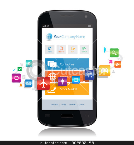 ... responsive design website surrounded by apps. by Bagiuiani Kostas