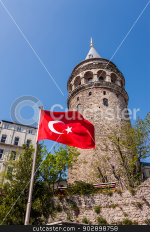 Galata Tower stock photo, Galata Tower in Istanbul by Scott Griessel