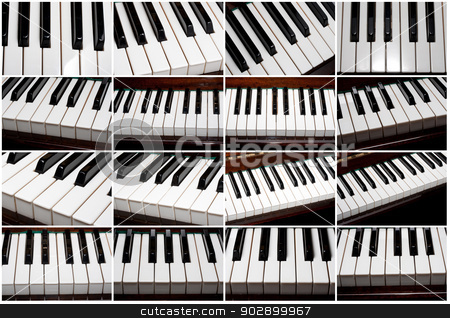Piano stock photo, Beautiful close up photos of piano keys by Alexey Popov