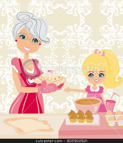 Grandma Baking Clip Art