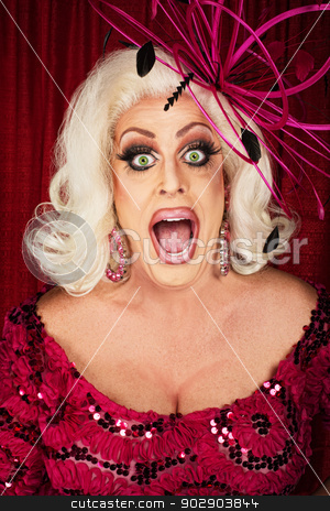 Happy Actress in Wig and Smile stock photo, Happy actress in wig and big smile by Scott Griessel