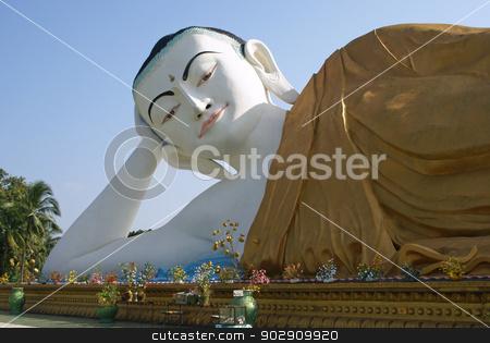 Buddha Statue, Bago, Myanmar  stock photo, Reclining Buddha, Bago, Myanmar, Asia by Alexander Ludwig