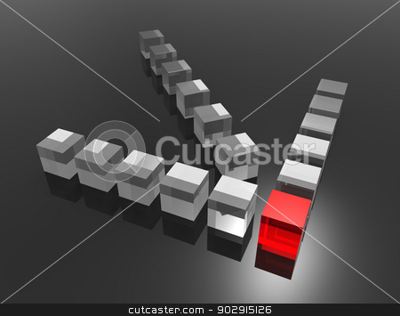 Management stock photo, Concept for leadership. Digitally generated image. by Bratovanov