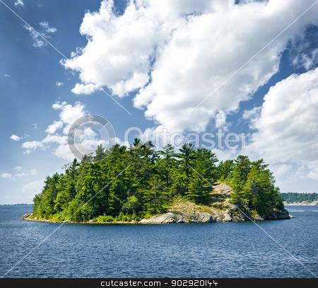Island in Georgian Bay stock photo, Small rocky island in Georgian Bay near Parry Sound, Ontario, Canada. by Elena Elisseeva
