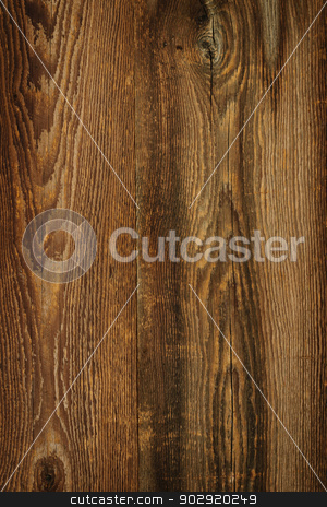 Rustic wood background stock photo, Brown rustic wood grain texture as background by Elena Elisseeva