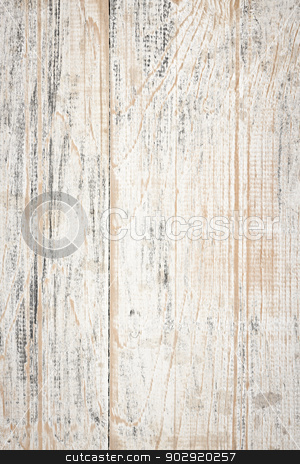 Distressed painted wood background stock photo, Background of distressed old painted wood texture by Elena Elisseeva