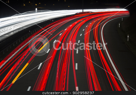 Speed stock photo, The blurred motion of the commuter flow, Bern, Switzerland by mdphot