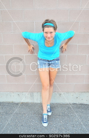 Female tomboy. stock photo, Female tomboy expressions outside. by OSCAR Williams