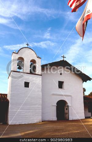 Presidio stock photo, Presidio State Historic Park in Santa Barbara by Henrik Lehnerer