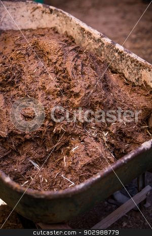 Cob Construction Aggregate stock photo, Cob Construction Clay and Straw Aggregate by Scott Griessel