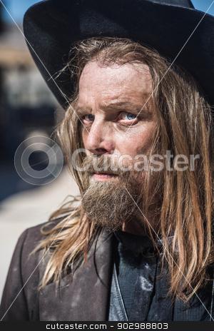Cowboy Portrait stock photo, Portrait of a Stern Cowboy by Scott Griessel
