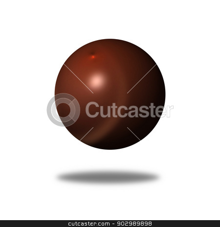 Abstract Brown Globe stock photo, Brown color globe on white background. by Henrik Lehnerer