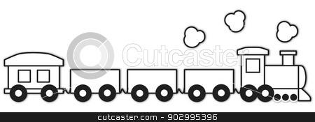 Vector Choo Choo Train Outline Stock Vector